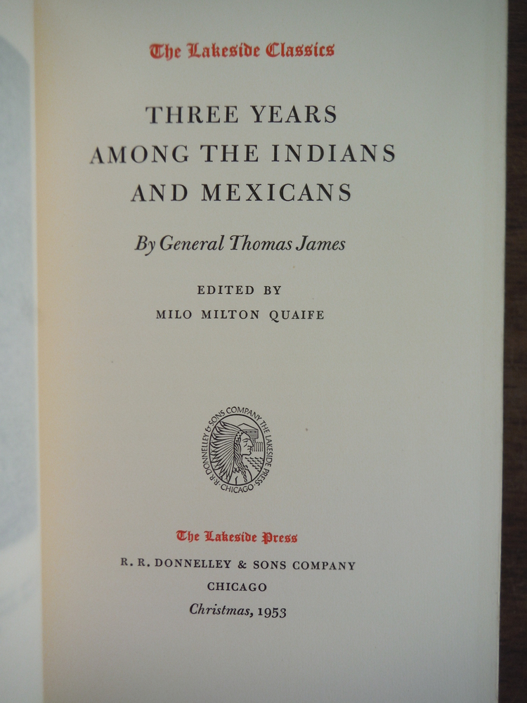 Image 1 of Three Years Among the Indians and Mexicans