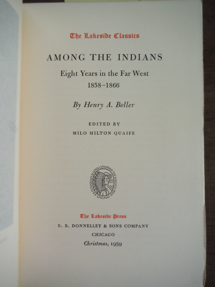 Image 1 of Among the Indians;: Eight years in the Far West, 1858-1866 (The Lakeside classic