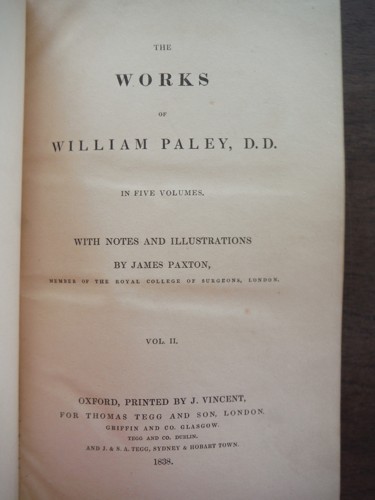 Image 1 of The Works of William Paley in Five Volumes - Volume II