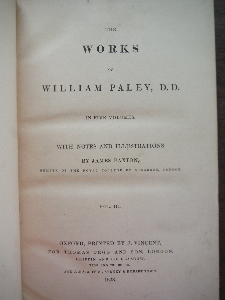 Image 1 of The Works of William Paley in Five Volumes - Volume III