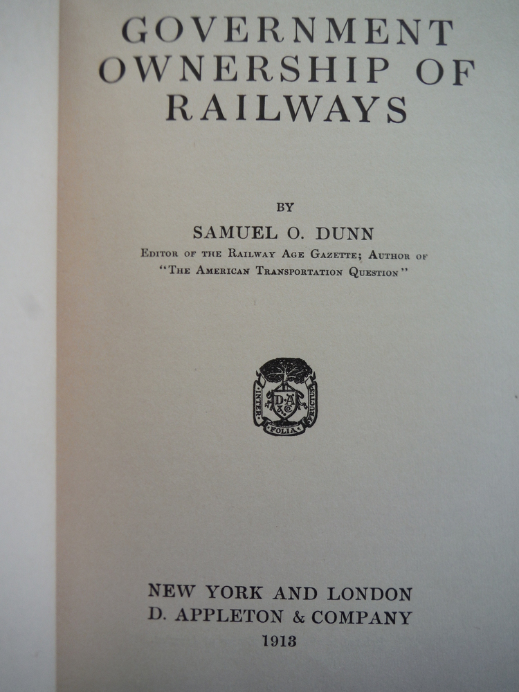Image 1 of Government Ownership of Railways