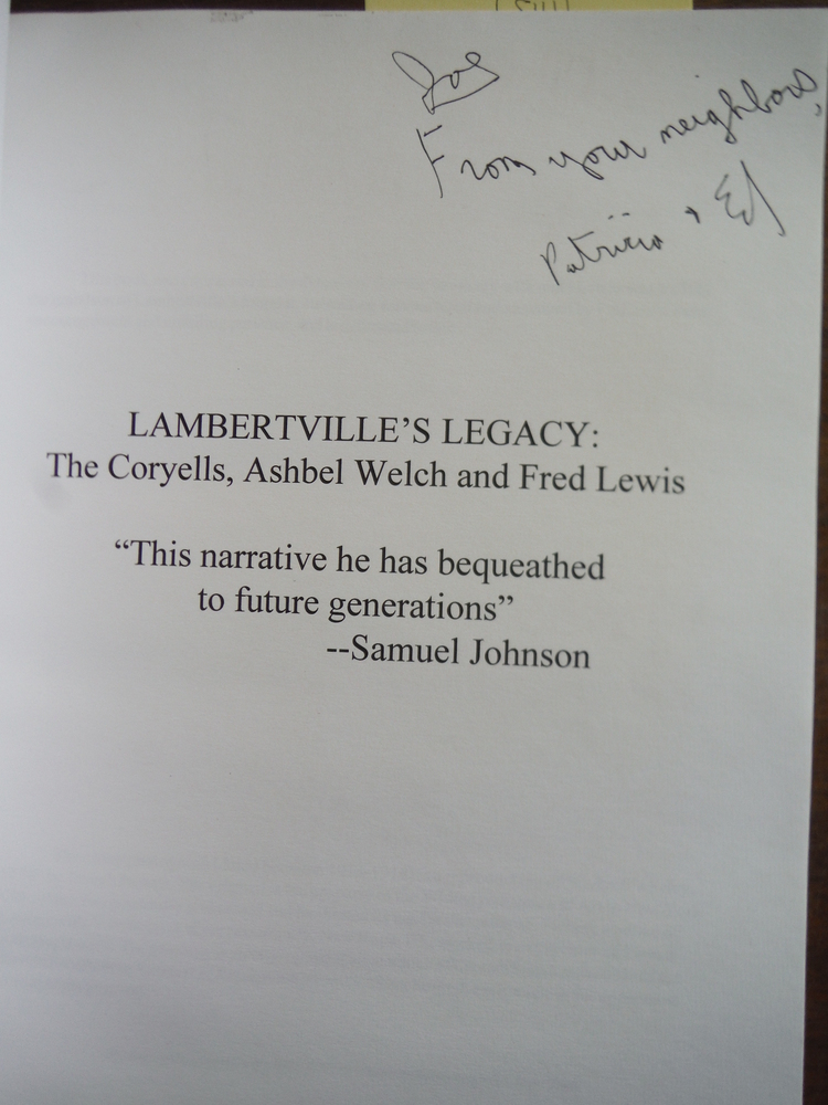 Image 1 of Lambertville's legacy: The Coryells, Ashbel Welch, and Fred Lewis