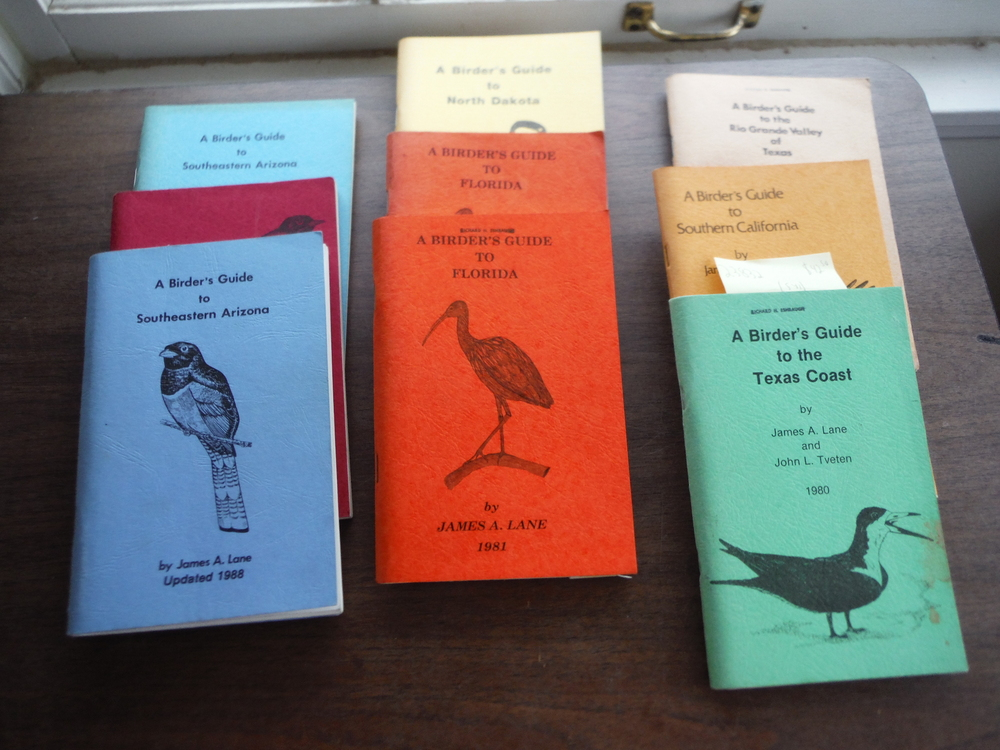Lot of Nine Birder's Guides by James A. Lane