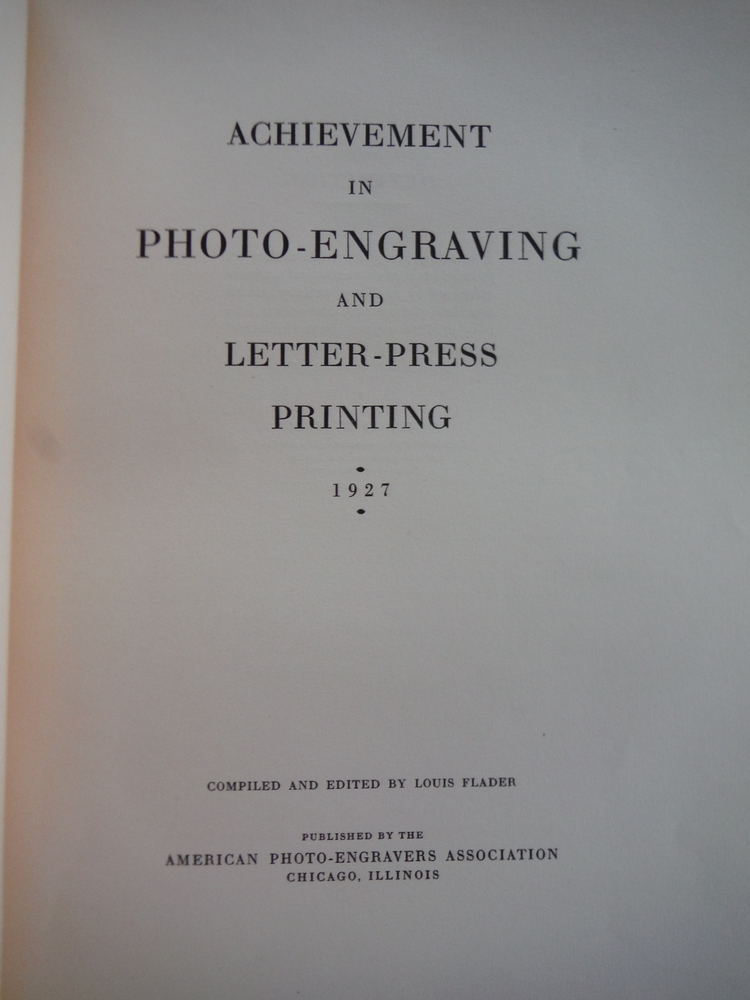 Image 1 of Achievement In Photo-Engraving And Letter-Press Printing