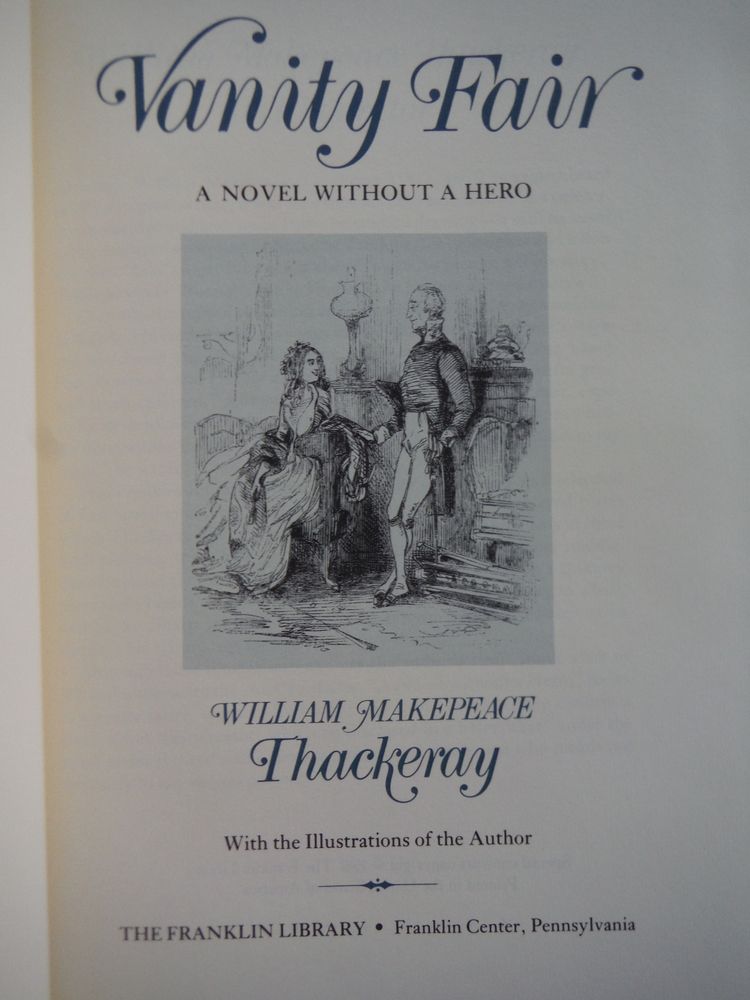 Image 1 of Vanity Fair A Novel without a Hero
