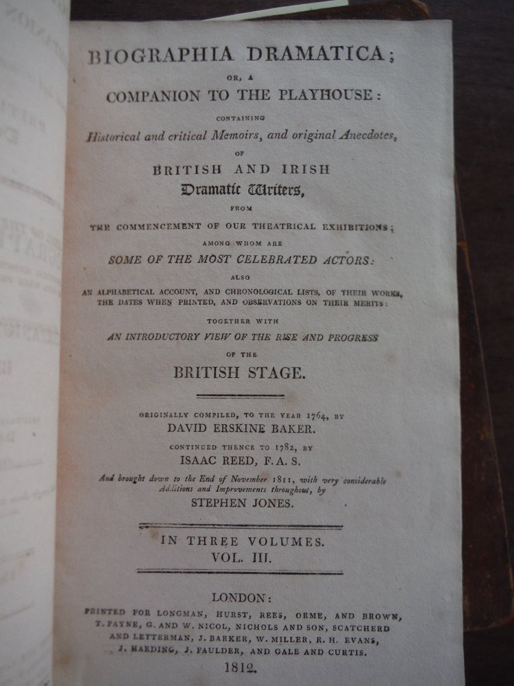 Image 3 of Biographia Dramatica; or a Companion to the Playhouse: containing historical and