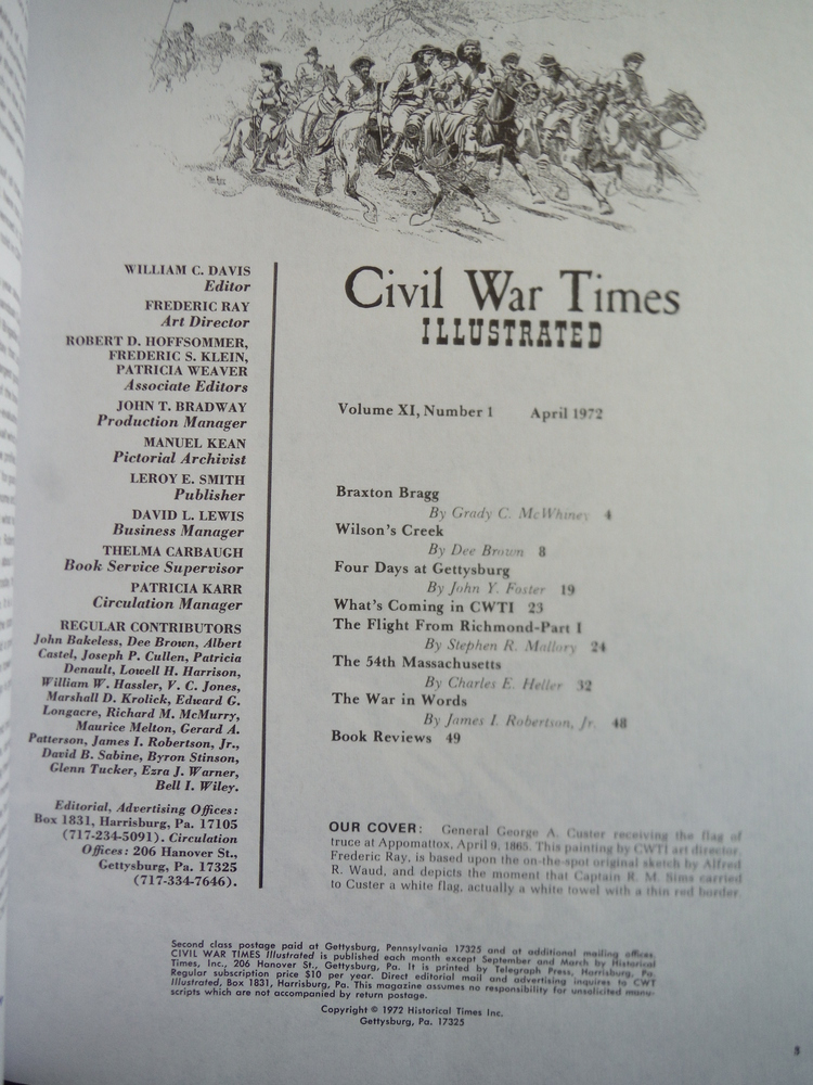 Image 1 of Civil War Times (Illustrated, Volume XI)