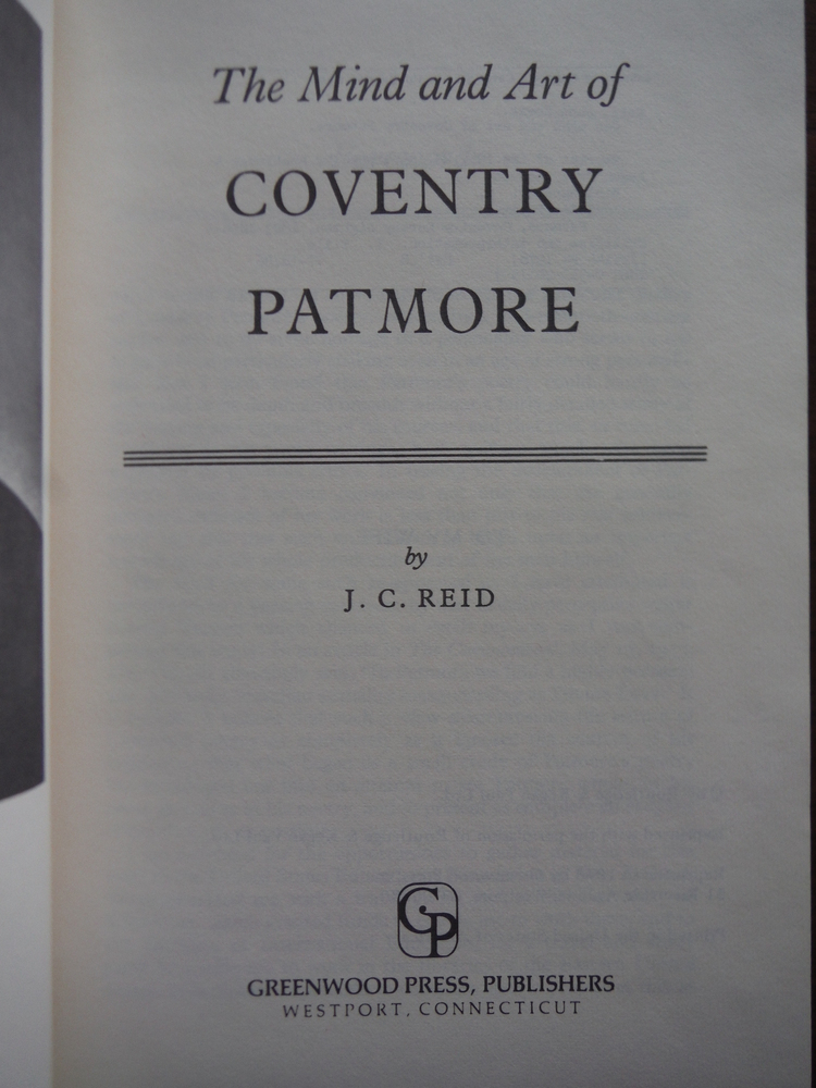 Image 1 of Mind and Art of Coventry Patmore