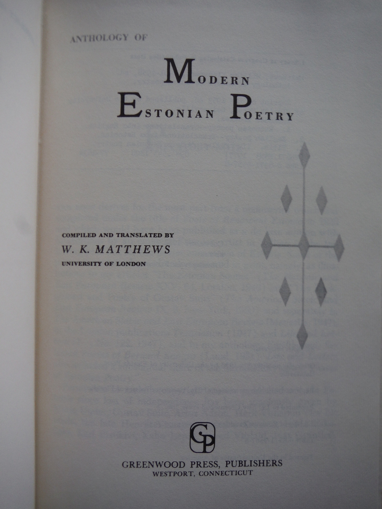 Image 1 of Anthology of Modern Estonian poetry