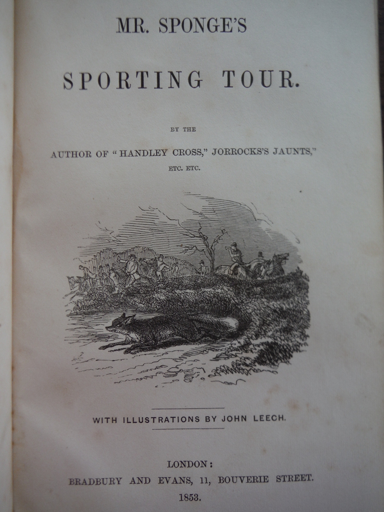 Image 1 of Mr. Sponge's Sporting Tour (First Edition)