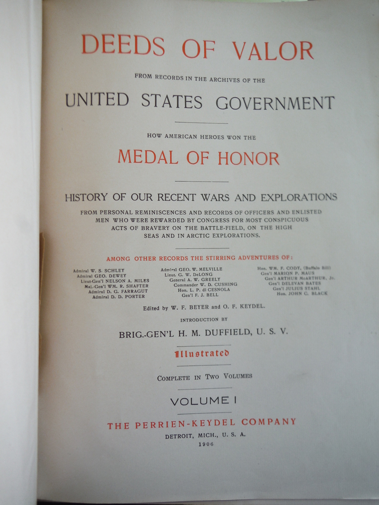 Image 3 of DEEDS OF VALOR FROM RECORDS IN THE ARCHIVES OF THE UNITED STATES GOVERNMENT. HOW