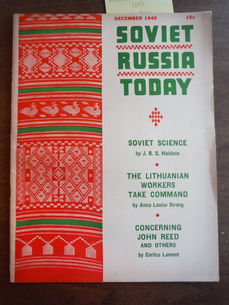 Image 0 of Soviet Russia Today Vol. 9, No 8, December 1940