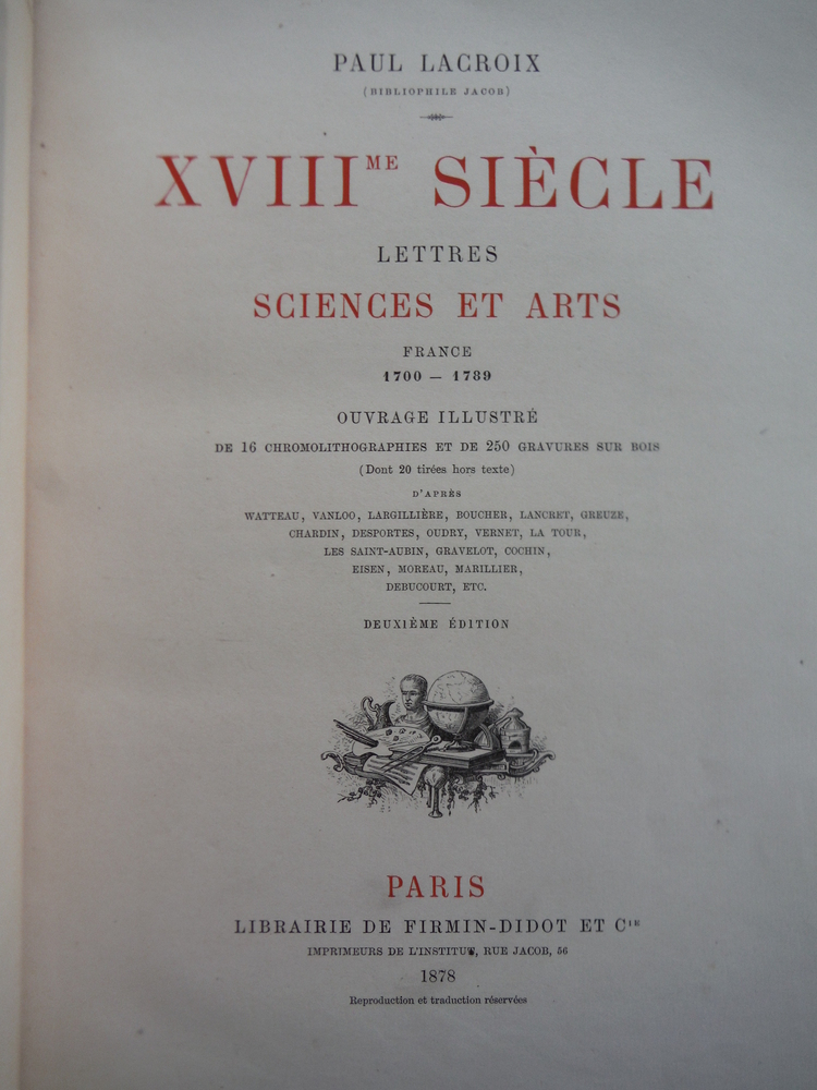 Image 1 of XVIII  siecle / lettres sciences et arts: france 1700-1789 /16 chromolithographi
