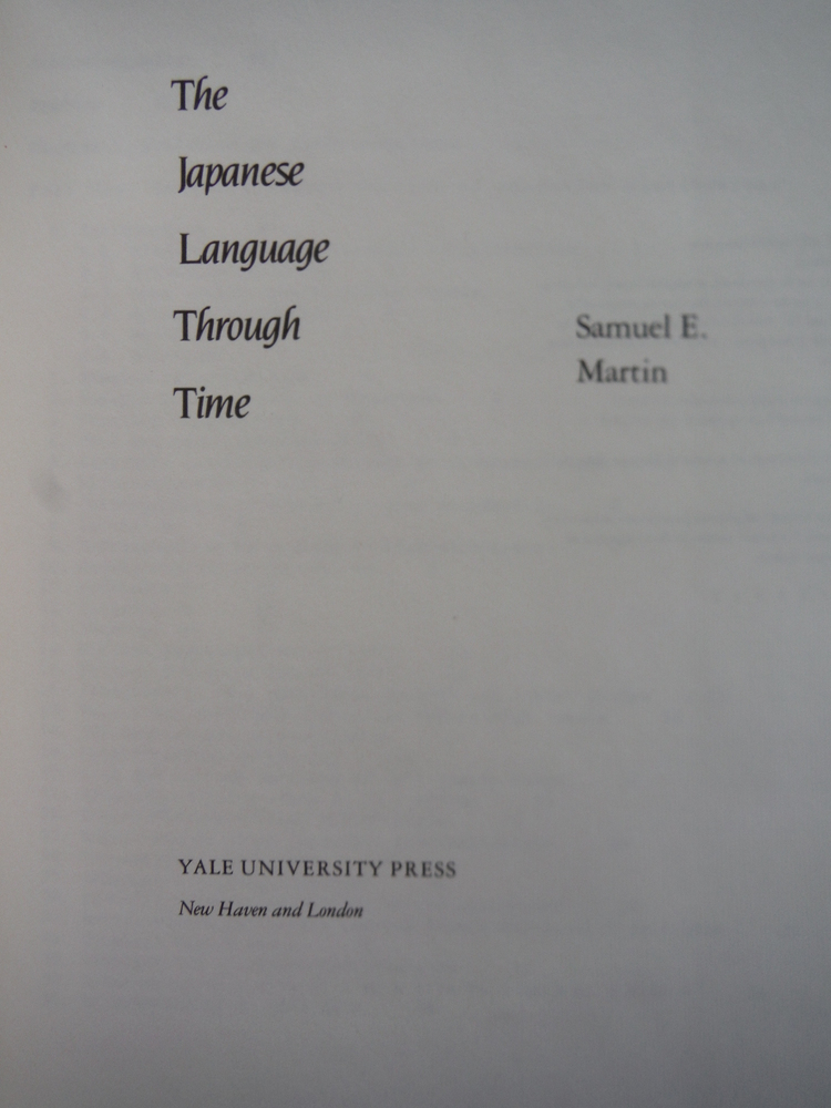 Image 1 of The Japanese Language Through Time (Yale Language Series)