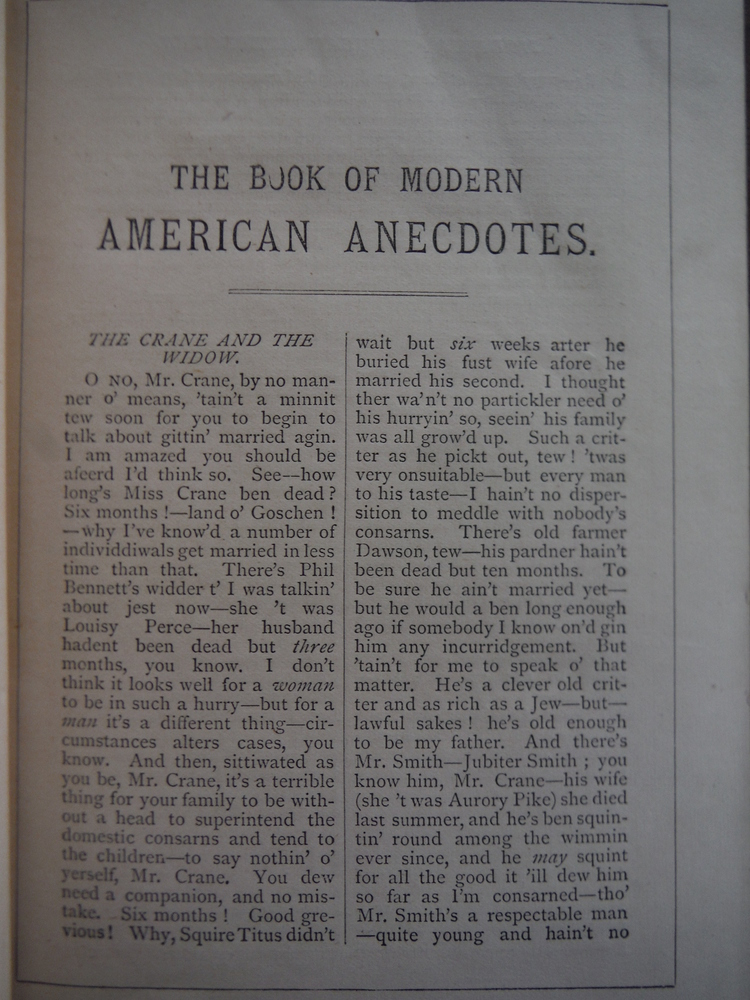 Image 1 of The Book of Modern Anecdotes: American, Legal, Theatrical