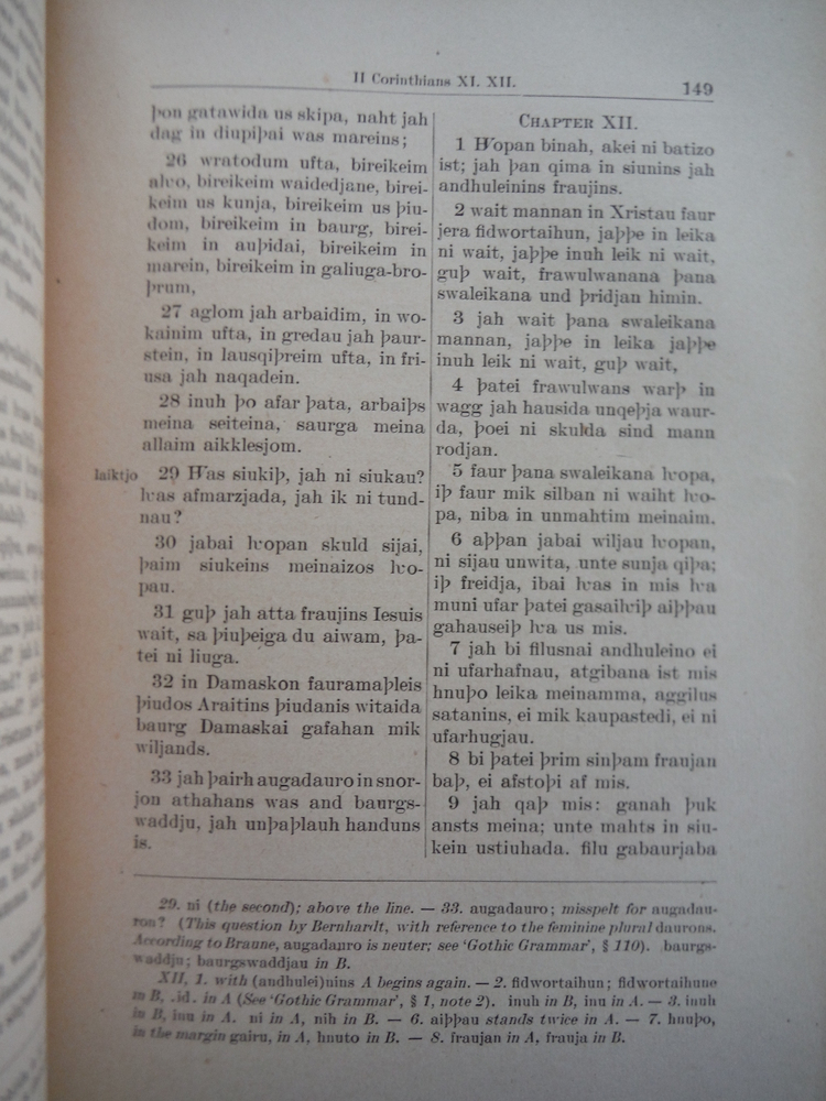 Image 4 of The First Germanic Bible Translated From the Greek By the Gothic Bishop Wulfila