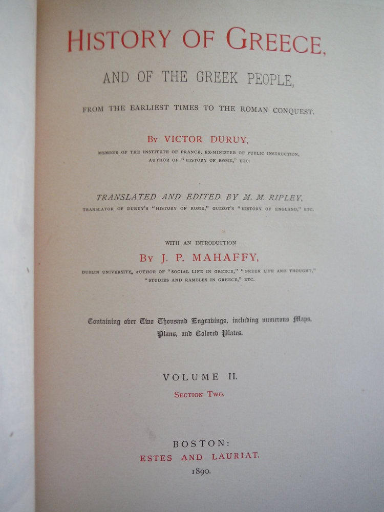 Image 1 of History of Greece, and of the Greek People, from the Earliest Times to the Roman