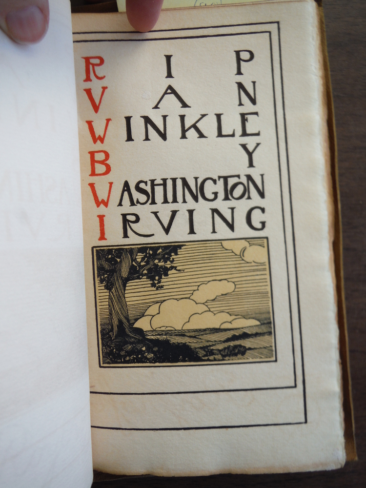 Image 1 of Rip Van Winkle - Fine Binding and Letterpress