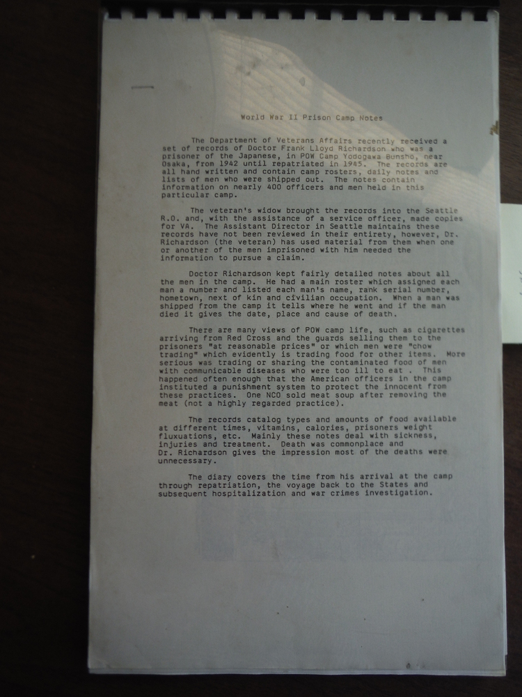 Image 0 of World War II Prison Camp Notes