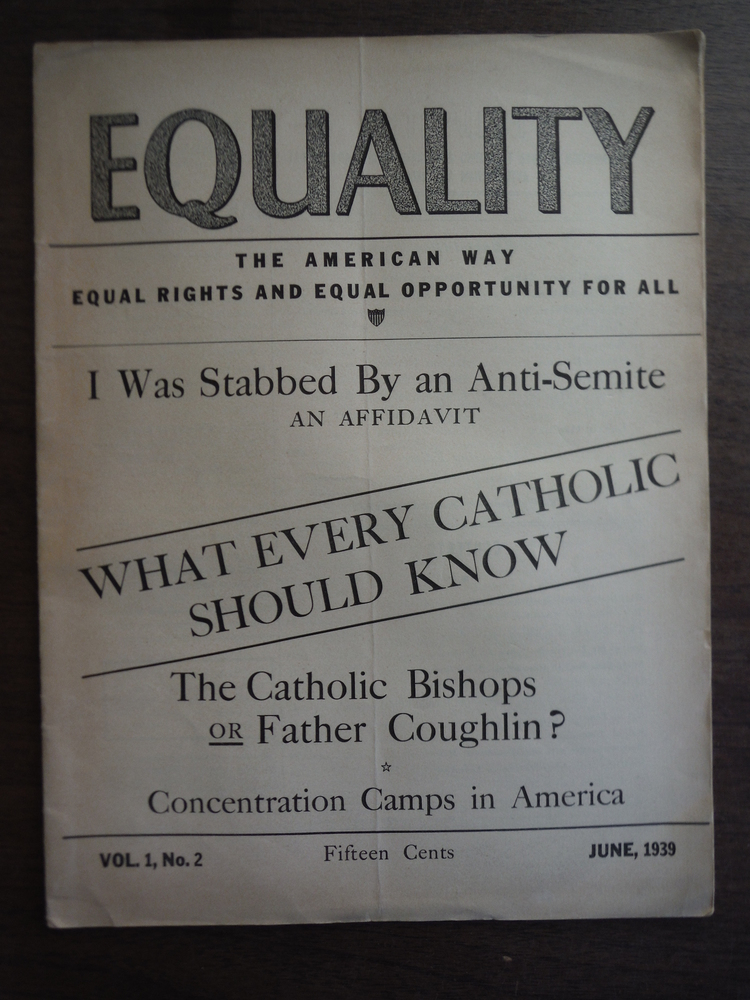 Image 0 of Equality A Monthly Journal to Defend Democratic Rights and Combat Anti-Semitism