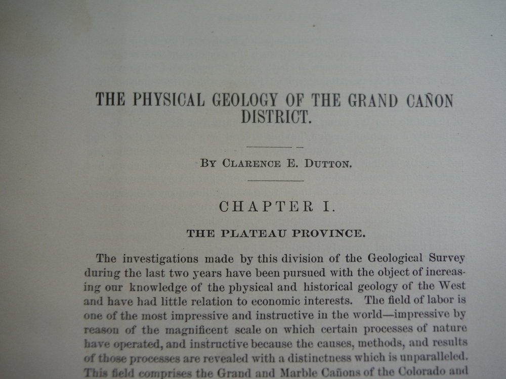 Image 1 of The Physical Geology of the Grand Canon District