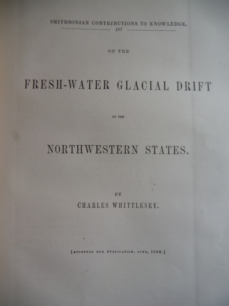 On the fresh-water glacial drift of the Northwestern states (Smithsonian contrib