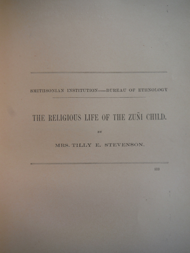 Image 0 of The Religious Life of the Zuni Child