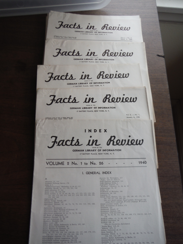 Facts in Review issued by the German Library of Information Vol. 2 No 1 to No. 2