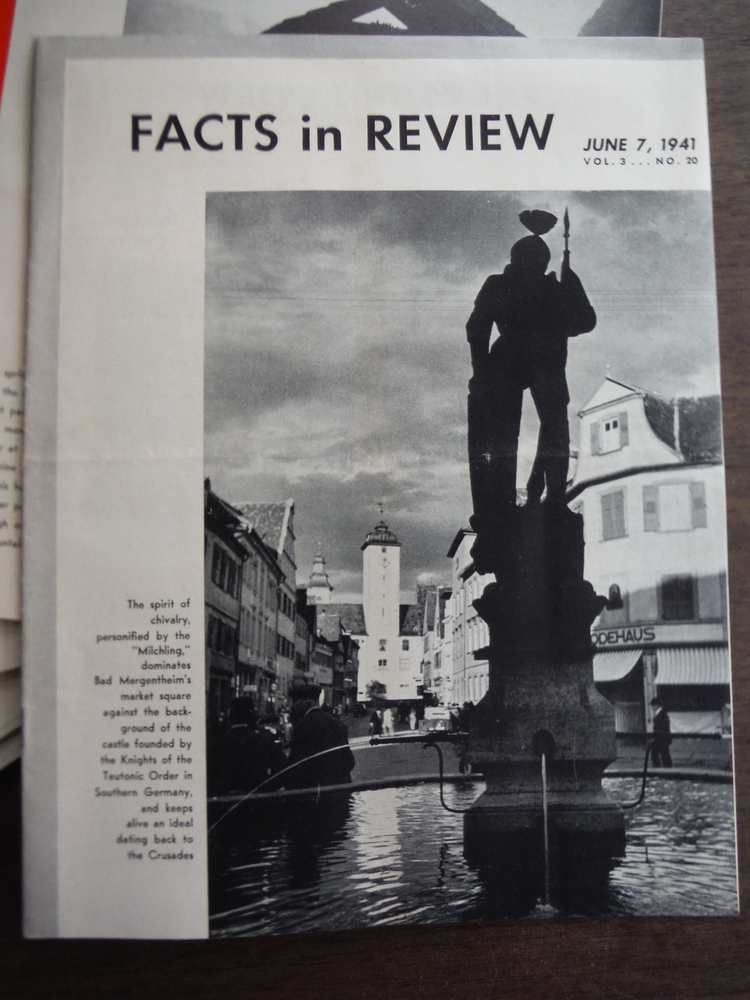 Image 1 of Facts in Review issued by the German Library of Information Vol III  No.1 to No.