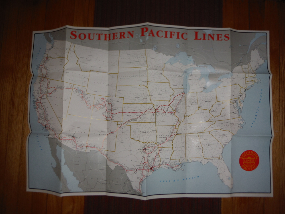 Southern Pacific Lines Railroad Map
