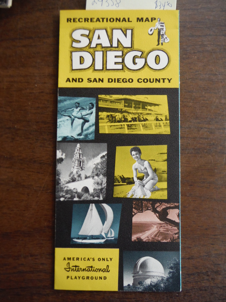 Recreational Map San Diego and San Diego County by Security Bank of San Diego (1