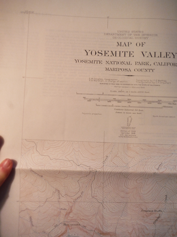 USGS Topographical Map of Yosemite Valley National Park California Maricopa Coun