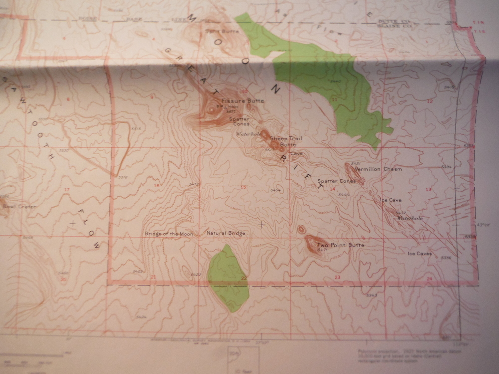 USGS Topographical Map Craters of the Moon National Monument Idaho (1957)