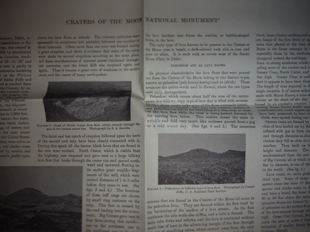 Image 1 of USGS Topographical Map Craters of the Moon National Monument Idaho (1957)