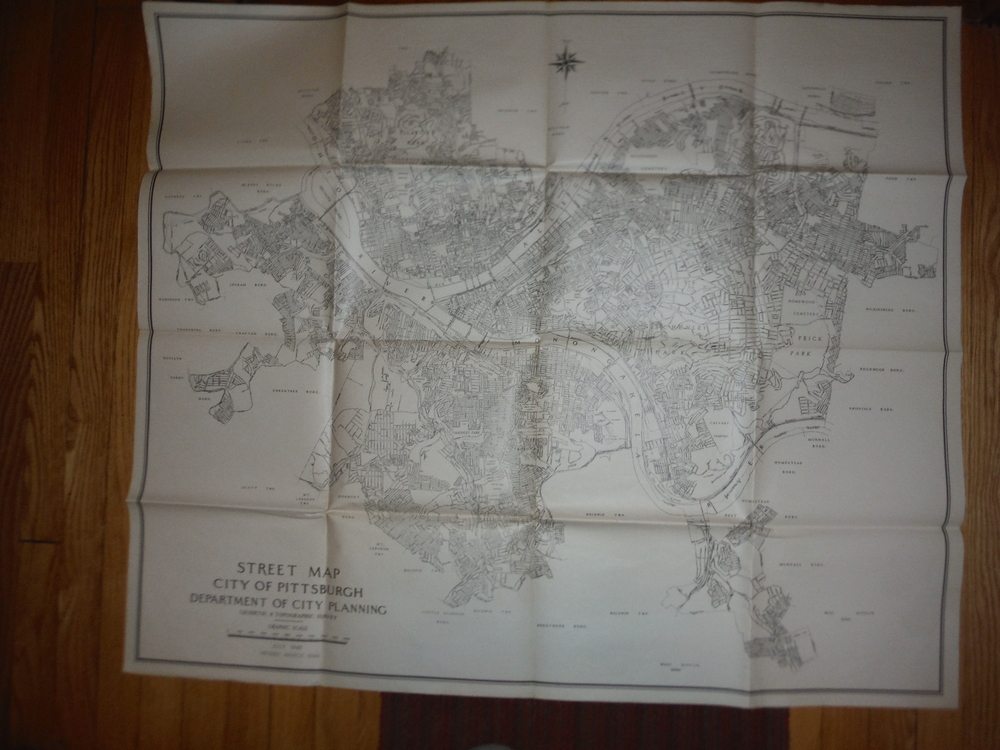 Street Map City of Pittsburgh Department of City Planning Geodetic & Topographic