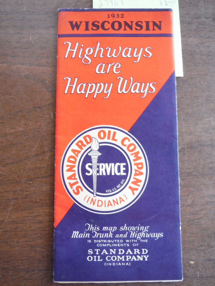 Standard Oil Company Indiana 1932 Official Road Map Wisconsin
