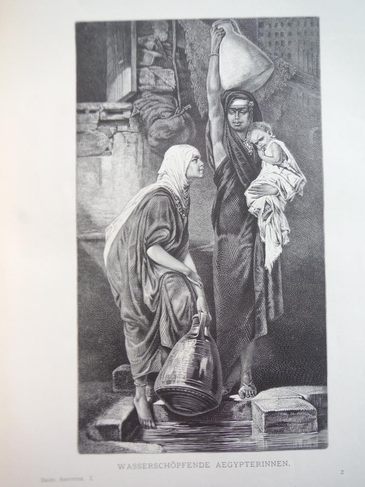 Image 0 of Wasserschopfende Aegypterinnen  - Steel Engraving (1878)