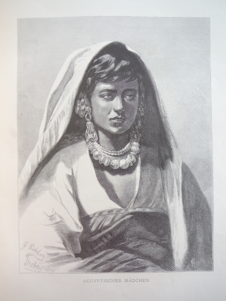 Image 0 of Aegyptisches Madchen - Steel engraving 1878