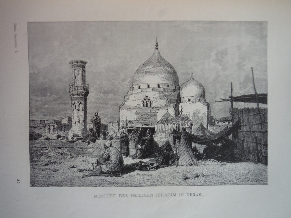 Image 0 of Moschee des Heiligen Ibrahim in Desuk - Steel engraving (1879)