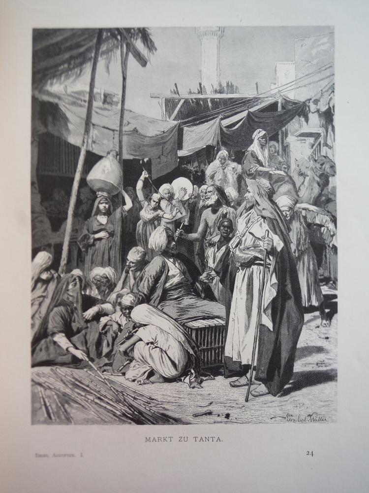 Image 0 of Markt zu Tanta - Steel Engraving (1879)