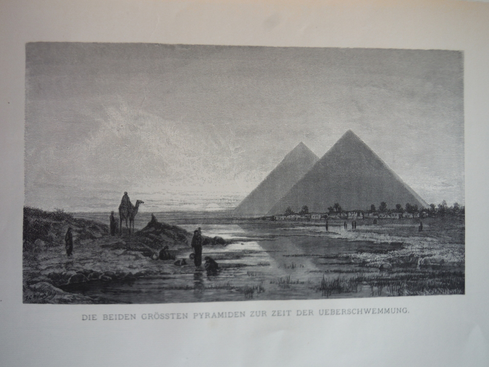 Image 0 of Die Beiden Grossten Pyramiden by  F. C. Welsch - Steel Engraving (1879)