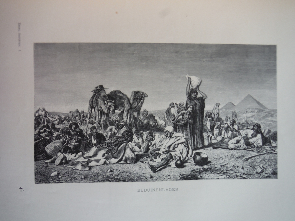 Image 0 of Beduinenlager by Leopold Carl Muller - Steel Engraving (1879)