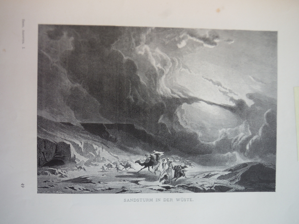 Image 0 of Sandsturm in der Wuste by August Loffler - Engraving (1878)