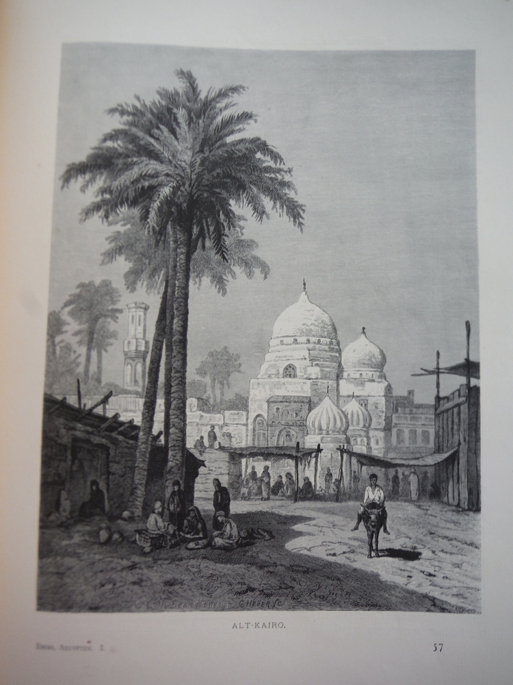 Alt-Kairo by F. C. Welsch Steel Engraving (1879)