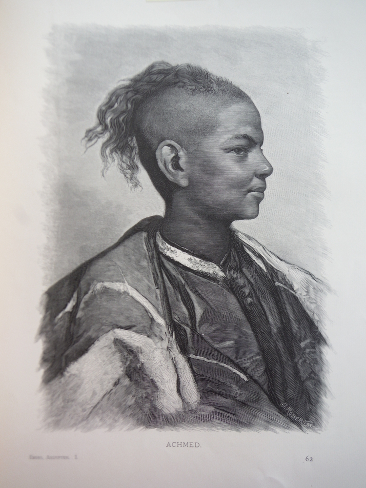 Ahmed by Gustav Richger - Steel Engraving (1879)