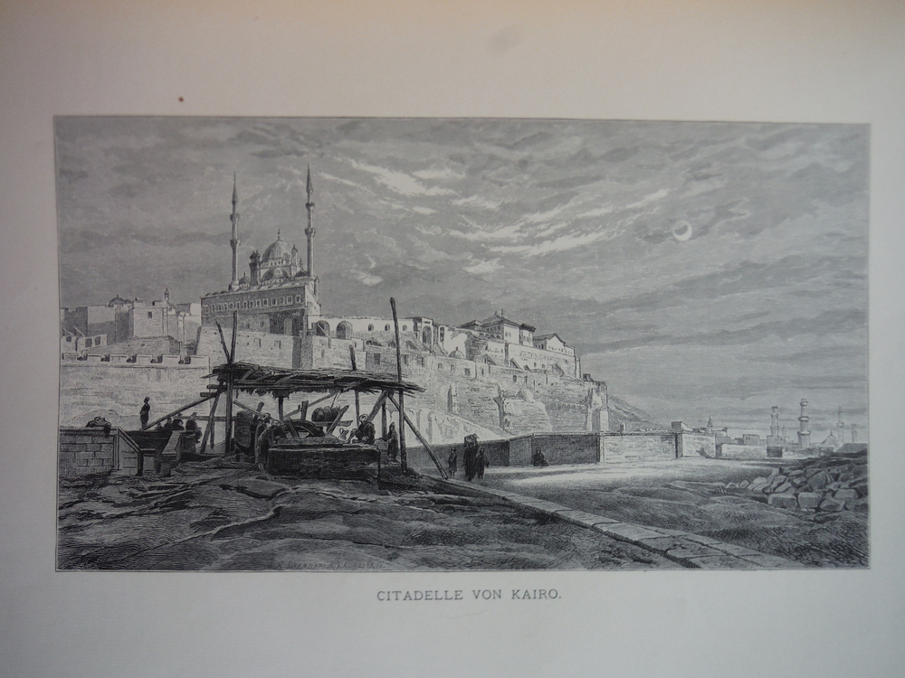 Image 0 of Citadelle von Kairo by Frank Dillon - Steel Engraving (1879)