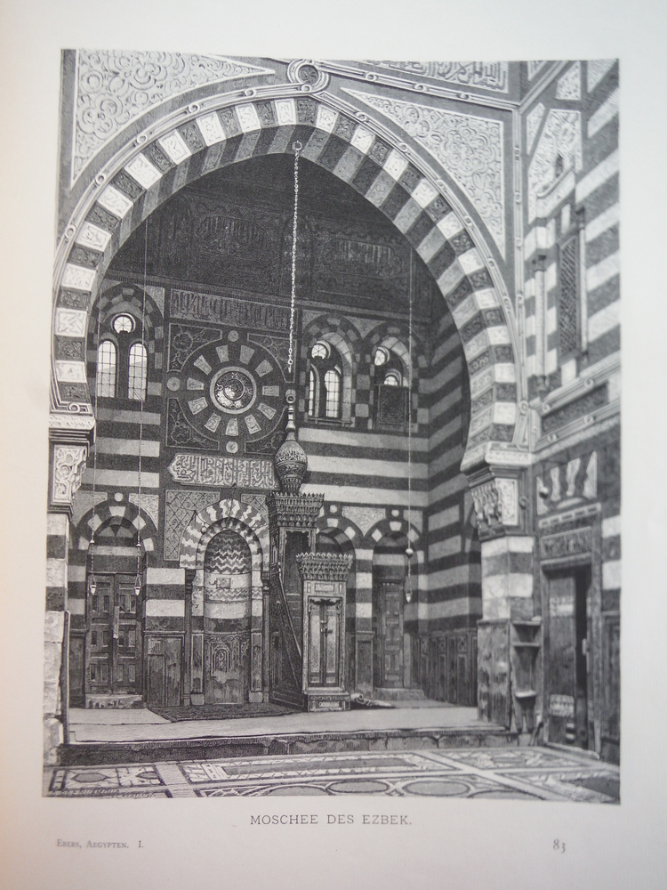 Image 0 of Moschee des Ezbek by Adolf Seel - Steel Engraving (1879)