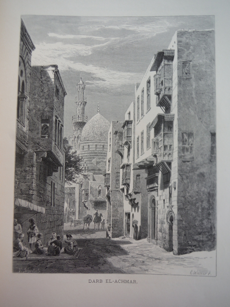 Image 0 of Darb el-Achmar by Carl Werner - Steel Engraving (1879)