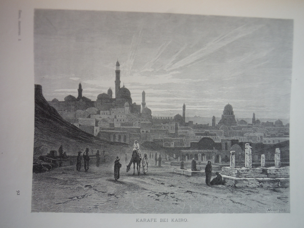 Image 0 of Karafe bei Kairo by F. C. Welsch - Steel Engraving (1879)