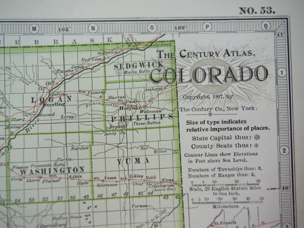 Image 1 of The Century Atlas  Map of Colorado (1897)